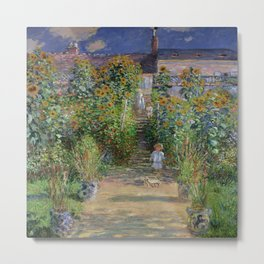 Claude Monet's Monet's Garden at Vetheuil Metal Print