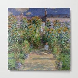 Claude Monet's Monet's Garden at Vetheuil Metal Print