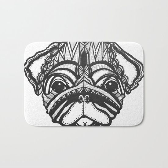 Doug the Pug Bath Mat