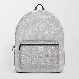 Silver ice - glitter effect- Luxury design Backpack