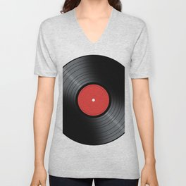 Music Record Unisex V-Neck