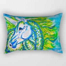A Unicorn Named Aurora Rectangular Pillow