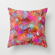 Tropicana - Red Throw Pillow