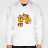phoenix Hoodies featuring Phoenix by Rishi Parikh