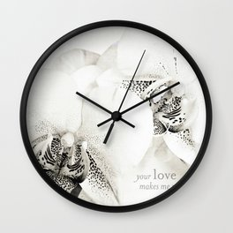 your LOVE Wall Clock