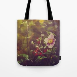 Textured Anemone (Cool Colors) Tote Bag