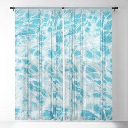 Underwater Photo Swimming Pool Sheer Curtain