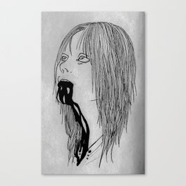 Dripping Insanity Canvas Print