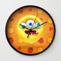 positive Wall Clocks featuring Positive by Keyspice