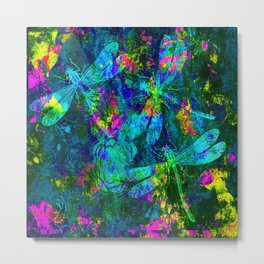 Colorful Dragonflies ZZ R Metal Print