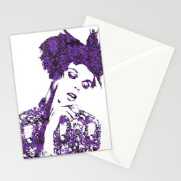 Purple Fashion Floral Stationery Cards