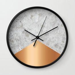 Concrete Arrow - Rose Gold #147 Wall Clock