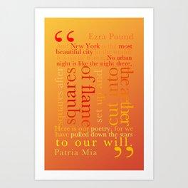 New York Typography Lg-C Art Print