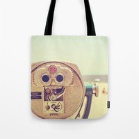 miles davis Tote Bags featuring Miles and Miles by Melanie Alexandra Photography