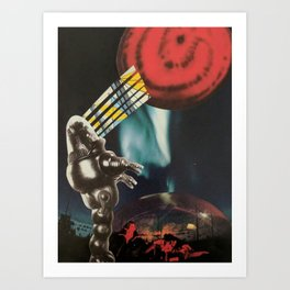Red Planet Collage Art Print