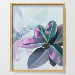 Violet Tropical Plant Serving Tray
