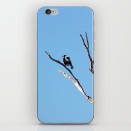 The Magpie that Comes and Goes iPhone Skin