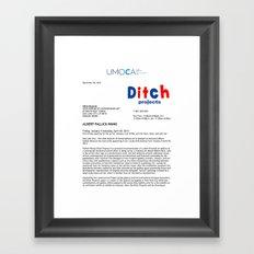 UMOCA Press Release (Page 1) Framed Art Print