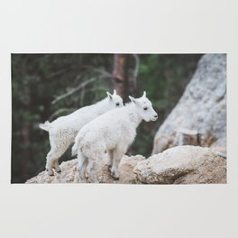 Baby Mountain Goats - Black Hills National Forest Rug