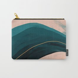 California Watercolor Winter Carry-All Pouch