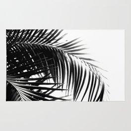 Palm Leaves Black & White Vibes #3 #tropical #decor #art #society6 Rug