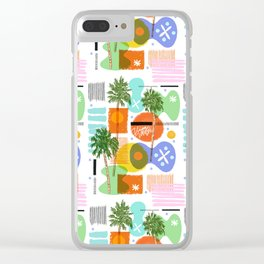 Vision Vandal Palms Clear iPhone Case