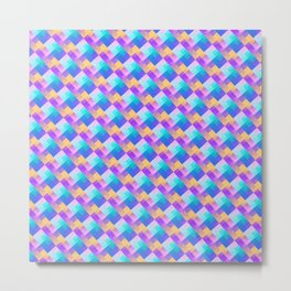 Geometric summer and water patterns Metal Print