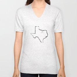 Denton, TX Unisex V-Neck