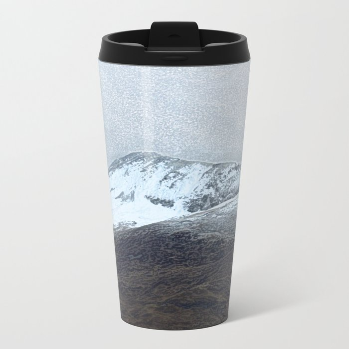 Off in the crouching mountains Metal Travel Mug