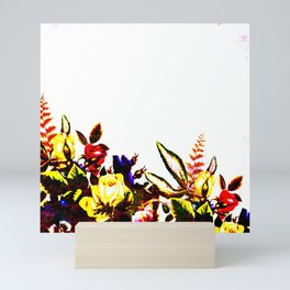 Saturated Floral on White Mini Art Print