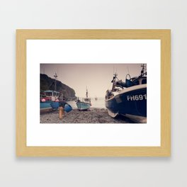 Fetching the Fish Framed Art Print