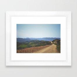 Topanga State Park Trail Framed Art Print
