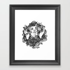 Lonely in Your Nightmare Framed Art Print