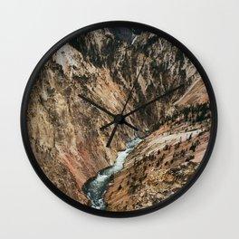 Yellowstone Falls / Grand Canyon of the Yellowstone Wall Clock