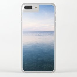 oh, Sea, how I love thee Clear iPhone Case