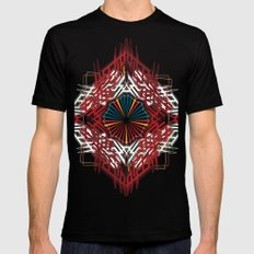 abstrkt placement MEDIUM Black Mens Fitted Tee
