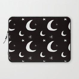 Night Sky Sketch in Black + White Laptop Sleeve