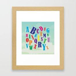 Alphabet art , nursery decor , children gift, birthday gift Framed Art Print