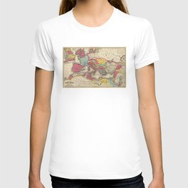 Vintage Map of The Roman Empire (1875) T-shirt