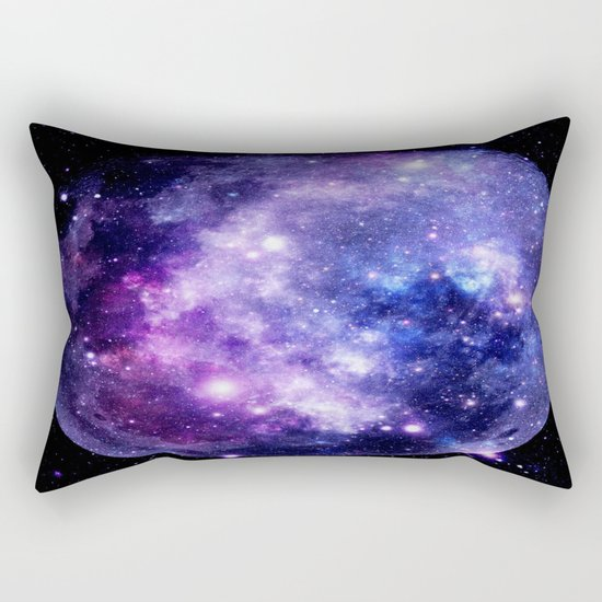 Galaxy Planet Purple Blue Space Rectangular Pillow