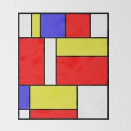 Mondrian #57 Throw Blanket