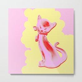 Pink Cat #4 Metal Print