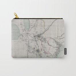 Beautiful 1870 Vintage Map of Eastern Africa Carry-All Pouch