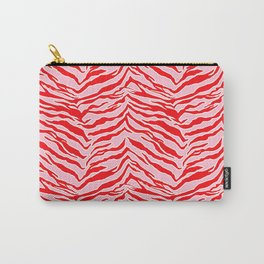 Tiger Print - Red and Pink Carry-All Pouch