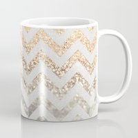 silver Mugs featuring GOLD & SILVER  by Monika Strigel