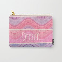 Dream Girly Pink Purple Pastel Waves Stripes  Carry-All Pouch