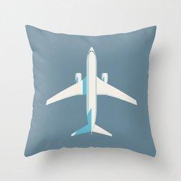 737 Passenger Jet Airliner Aircraft - Slate Throw Pillow