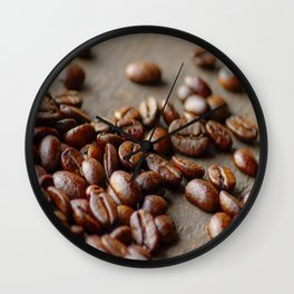 Fresh Coffee on the wood Wall Clock