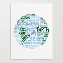 Protect Earth Word Bubble Poster