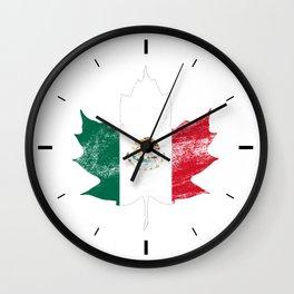 Mexico/Canada Wall Clock